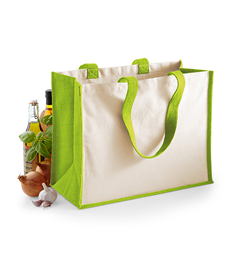 Jute Classic Shopper Bag with Print